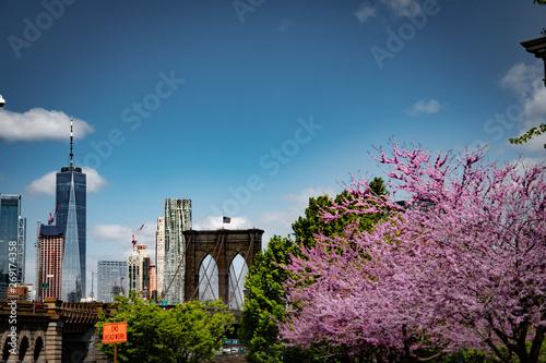 Photo Brooklyn Bridge and Downtown
