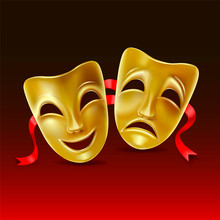 Theatrical Masks. Mesh. Clipping Mask