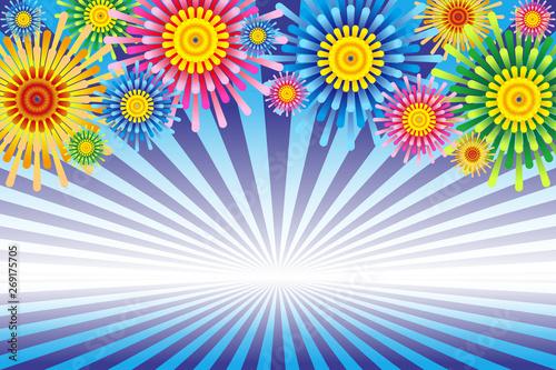 背景イラスト素材打ち上げ花火イメージ花火大会夏祭りイベント