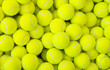 canvas print picture - Lots of vibrant tennis balls, pattern of new tennis balls for background