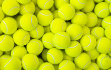 Lots Of Vibrant Tennis Balls, Pattern Of New Tennis Balls For Background