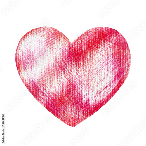 Beautiful Big Red Heart Pencil Drawing Buy This Stock