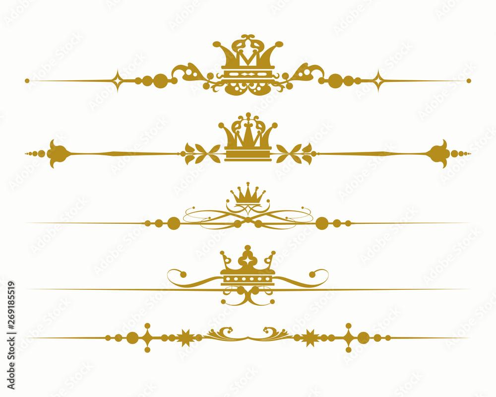 Fototapeta gold royal elements for design