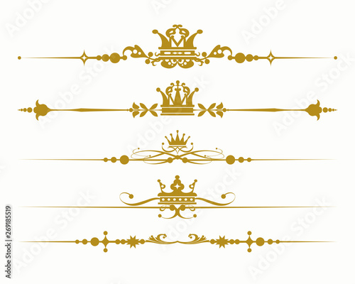 Leinwand Poster  gold royal elements for design
