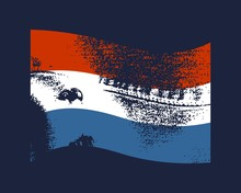 Netherlands Flag Waved Design ...