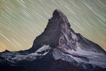 Fototapeta Góry Starfall on Matterhorn