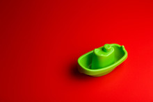 Little Green Plastic Toy Ship ...