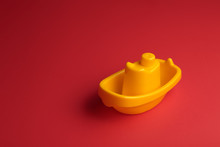Little Yellow Plastic Toy Ship...