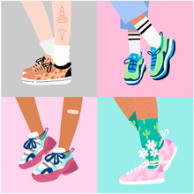 Set Of Four Pairs Of Female Or...