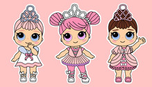 Cute Vector Little Princesses ...