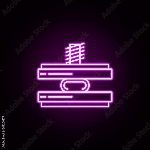 Photo  force neon icon