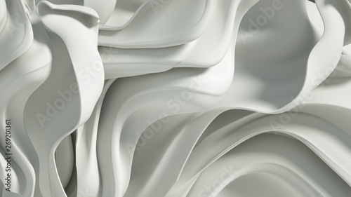 Cadres-photo bureau Abstract wave Luxury elegant background abstraction fabric. 3d illustration, 3d rendering.