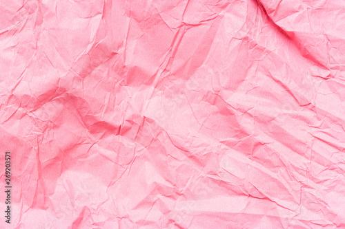 Valokuva  Texture crumpled pink paper