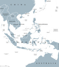 Southeast Asia, Political Map ...
