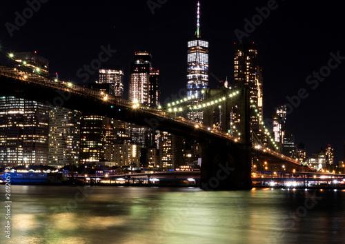 Keuken foto achterwand Verenigde Staten Manhattan by night, from DUMBO, Brooklyn