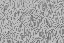 Wavy Background. Hand Drawn Waves. Stripe Texture With Many Lines. Waved Pattern. Line Art. Black And White Illustration