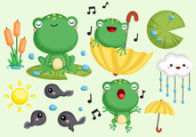 A Vector Collection Of Cute Fr...