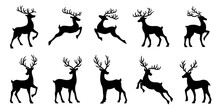 Christmas Deer Silhouettes