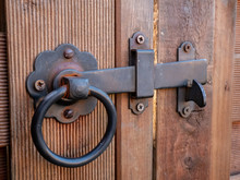 Old Fashioned Gate Latch On Garden Fence