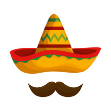 Mexican Hat Mariachi With Mustache