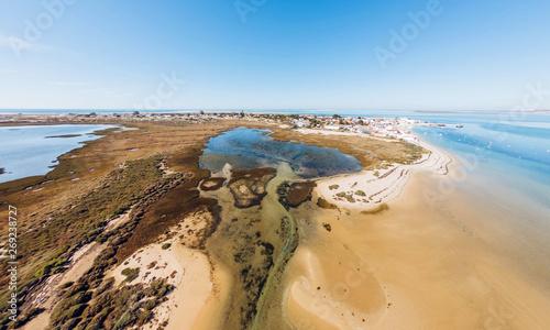 Fotografía  Aerial view of Ria Formosa. Armona Island, Algarve, Portugal
