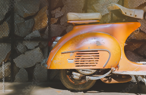 Aluminium Prints Scooter Rear of Italian vintage scooter