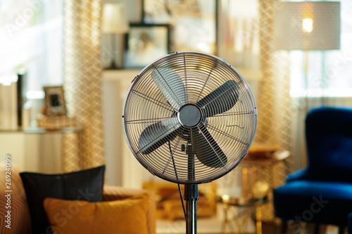 Obraz na plátně Closeup on electric floor standing fan