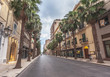 Empty streets of a beautiful cityside of Taranto with a breathtaking architecture.