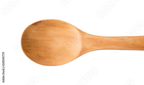 Valokuva  Wooden spoon top view