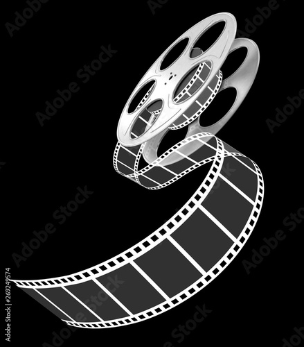 Photo  3d film strip on black