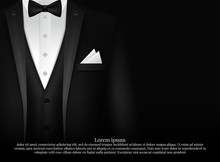 Black Suit And Tuxedo With Bow...
