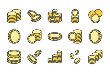 Stack Of Coins Related Color L...