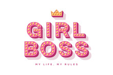 Girl Boss Retro Typography