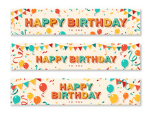Happy Birthday Greeting Banners