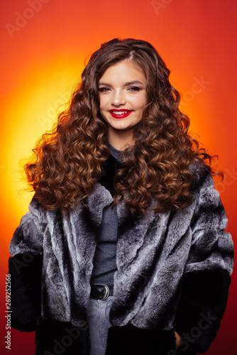 Fotografia, Obraz  Curly headed teenager