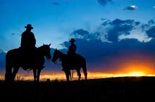Two Cowboys At Dawn