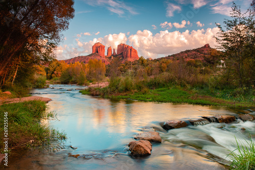 Cathedral Rock at Red Rock Crossing in Sedona, Arizona Canvas