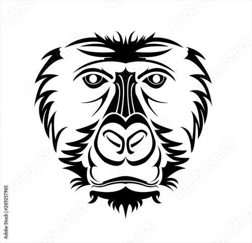 Fototapety, obrazy: gorilla logo