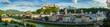 canvas print picture - View to Salzburg Skyline from, Austria