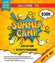 Summer Camp Invitation Banner ...