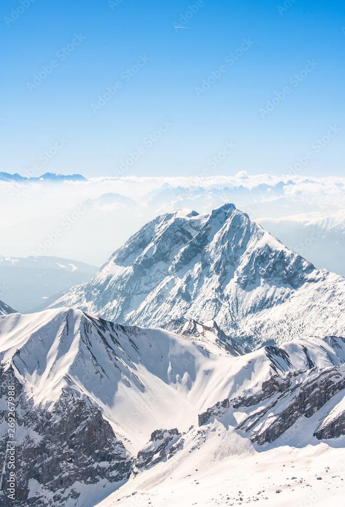 Fototapeta Zugspitze Alpen Schnee Landschaft
