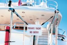 Private Yacht No Entry Prohibi...