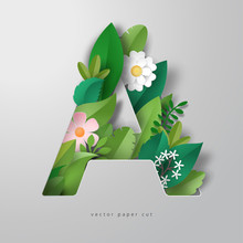 Vector Letter A In Style Of Pa...