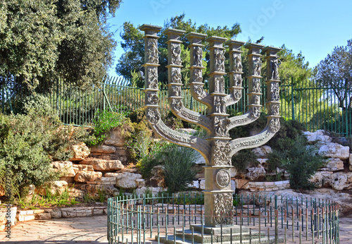 The Knesset's Menorah sculpture, Jerusalem, Israel Canvas Print