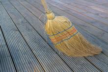 Old Straw Broom, Close-up