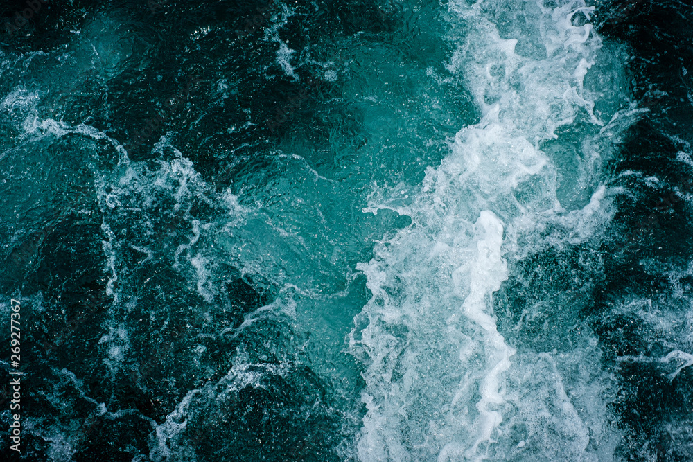 Fototapety, obrazy: Abstract water ocean waves texture background.