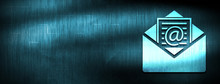 Newsletter Email Icon Abstract Blue Banner Background