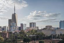 City Skyline In Nairobi, Kenya