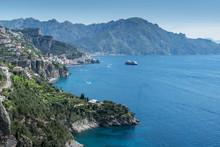 Coastline Of Amalfi Coast, Italy