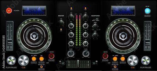 DJ mixer Wallpaper Mural